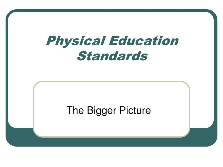 physical education standards n.