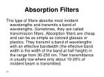absorption filters