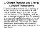 b charge transfer and charge coupled transducers