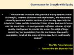 governance for growth with equity