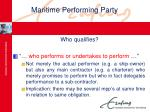 maritime performing party16