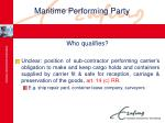 maritime performing party24