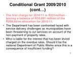 conditional grant 2009 2010 cont