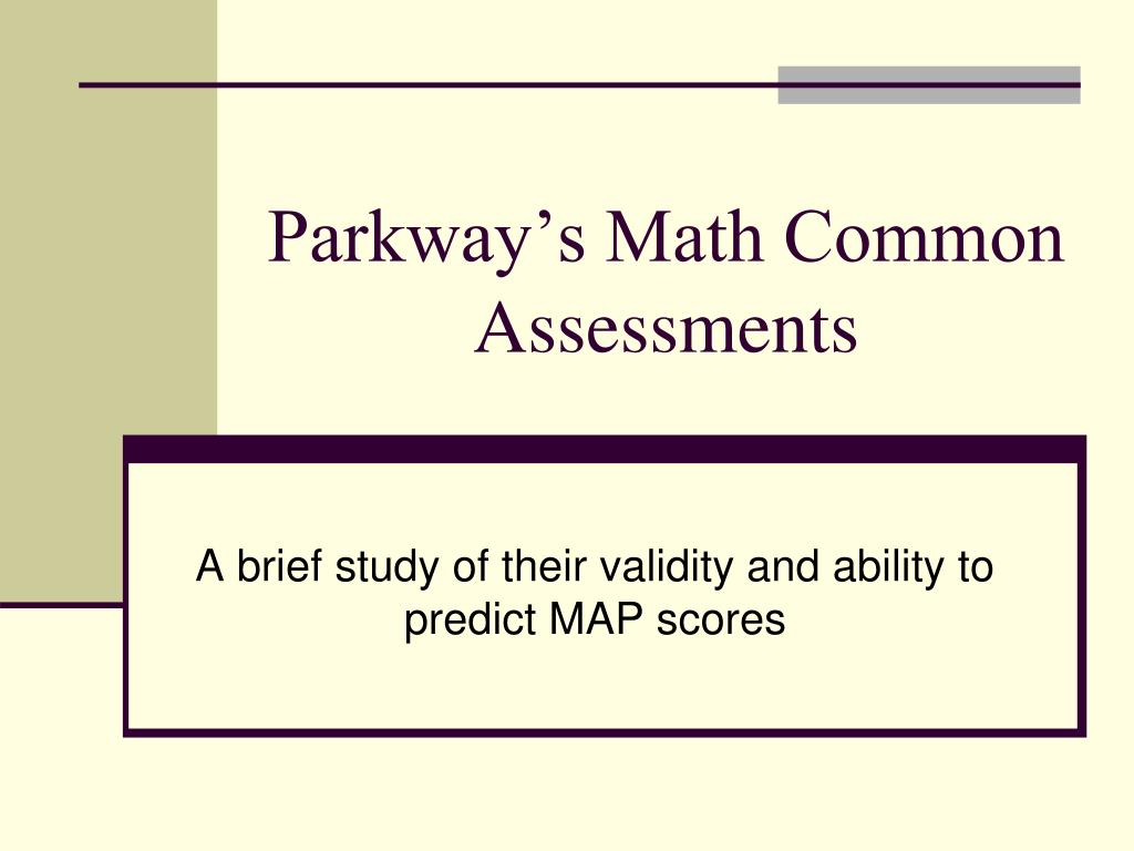 parkway s math common assessments l.