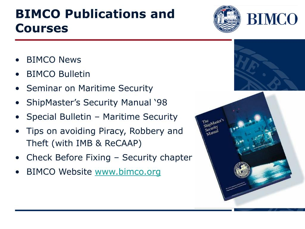 BIMCO Publications and Courses