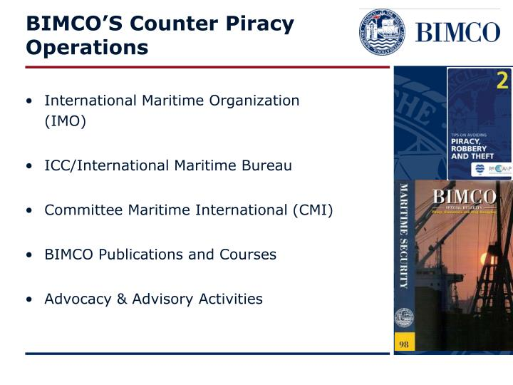 Bimco s counter piracy operations