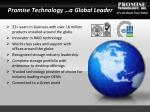 promise technology a global leader