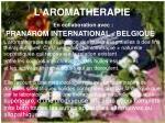 l aromatherapie