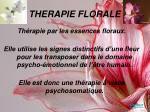 therapie florale