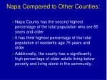 napa compared to other counties