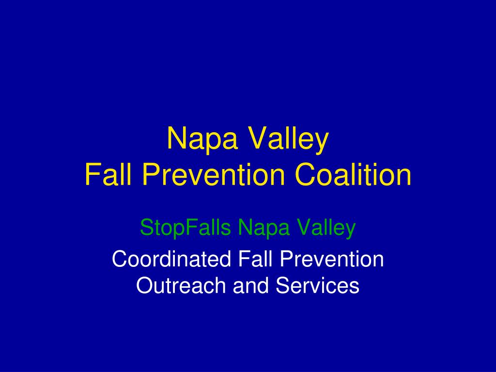 napa valley fall prevention coalition l.