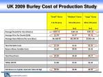 uk 2009 burley cost of production study