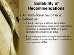 suitability of recommendations4