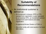 suitability of recommendations5