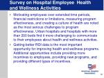 survey on hospital employee health and wellness activities10