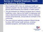 survey on hospital employee health and wellness activities5