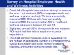 survey on hospital employee health and wellness activities9