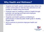 why health and wellness