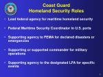 coast guard homeland security roles