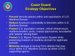 coast guard strategy objectives