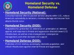 homeland security vs homeland defense