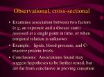 observational cross sectional