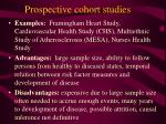 prospective cohort studies