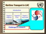 maritime transport in lac30