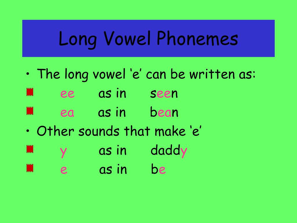 long vowel phonemes l.