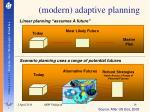modern adaptive planning