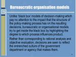 bureaucratic organisation models