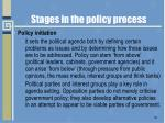 stages in the policy process