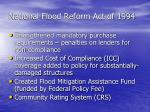 national flood reform act of 1994