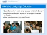 intensive language courses
