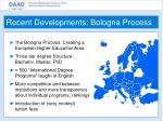 recent developments bologna process