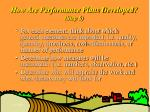 how are performance plans developed step 5