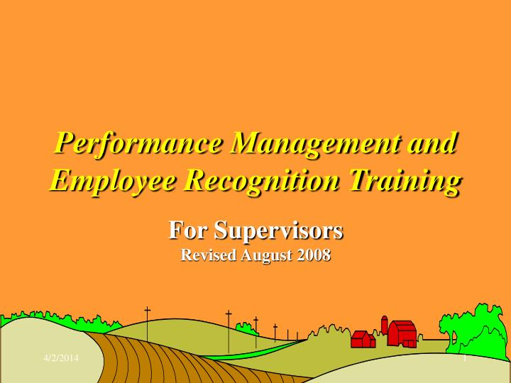 performance management and employee recognition training n.