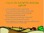 what is the role of the reviewing official