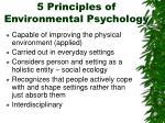 5 principles of environmental psychology
