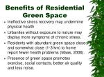 benefits of residential green space