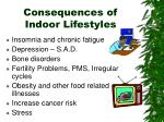 consequences of indoor lifestyles