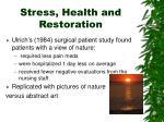 stress health and restoration