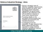 defence industrial strategy aims