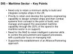 dis maritime sector key points