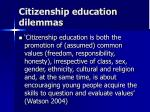 citizenship education dilemmas