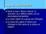 rights and culture