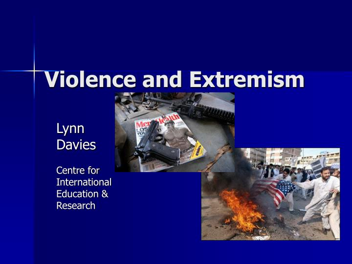 violence and extremism n.