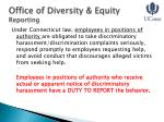 office of diversity equity reporting