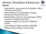 policies procedures resources panel