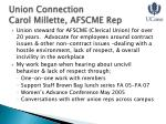 union connection carol millette afscme rep
